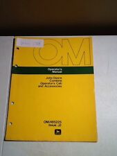 John Deere Combine Operator's Cab and Accessories Manual