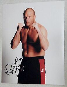 """UFC Legend """"The Natural"""" Randy Couture Signed 8x10 Photo Auto MMA"""