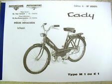Mobylette/Moped/Motobecane/Cady/C1/M1/In French/ Parts Book With Diagrams