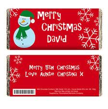PERSONALISED CHRISTMAS CHOCOLATE BAR teacher's / dad's / secret santa gift idea