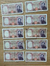 ITALY: Set of 10 Banknotes 10.000 Lire interesting sequence of nr: 0xx 1962  LOT