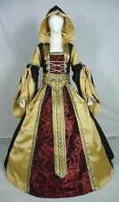 Vestido de boda Renaissance Tudor Medieval handfasting Larp Vestido de disfraz (MD-07)