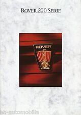 Prospetto ROVER 200 serie 1988 auto prospetto opuscolo brochure 213s 213 216 vites