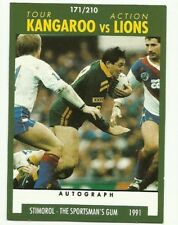 1991 NRL SCANLENS STIMOROL #171 KANGAROOS VS LIONS TOUR CARD