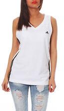 Adidas Ess 3S Tanque Top de Tirantes Mujer Camiseta Blanco Negro P43723