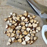 100PCS Love Heart Rustic Wood MINI DIY Wedding Table Scatter Decoration Crafts