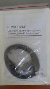 Powervar ABCEG251, ABCEG401, ABCEG601 Manual, CD & USB cable