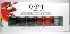 OPI Color Paints Layer & Blend Mini Nail Lacquers Polish 6pc Set 125oz fast ship