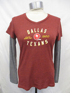Dallas Texans NFL Vintage Women's Touch Double Sleeve Tee