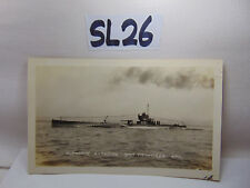 VINTAGE 1920'S US NAVY PICTURE POSTCARD SUBMARINE SUB S13 IN SAN FRANCISCO BAY