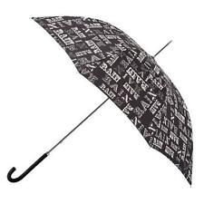 Totes Ladies Elegant Rain Text Print Walking Length Long Umbrella