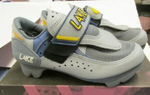 LAKE CX115 TRAINER-W CYCLING SHOES WOMEN'S GREY BLUE YELLOW US SIZE 5.5 (EU 36)