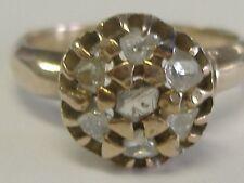 AMAZING BEAUTY ANTIQUE DIAMOND  HAND MADE RING  SIZE 5,5 ROSE CUT/UNCUT DIAMONDS