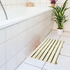 Luxury Natural Wooden Anti Slip Bath Duck Board Bathroom Rectangular Shower Mat