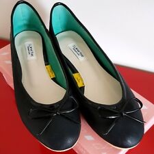 Women's Black Ballet Flats with Bow - SIZE 8 (245mm) (Excellent Condition)