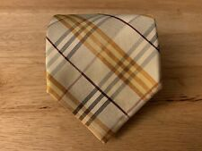 Burberry Nova Check Authentic 100% Silk Tie Made In Italy
