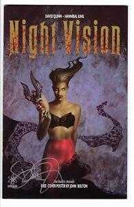 Night Vision Quinn/King Atomeka Press 1993 Signed by David Quinn NM-