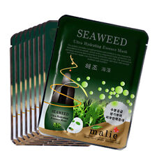 11 PCS Seaweed Facial Skin Care Mask Pack Essence Collagen Moisture Malie
