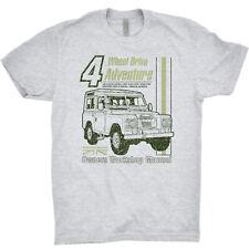 Land Rover Defender T Shirt 4 x 4 Wheel Adventure British Garage United Kingdom