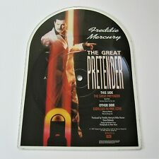 "Freddie Mercury - The Great Pretender 7"" Shaped Picture Disc 1987 Single Queen"