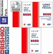 1994 Chevrolet GMC Truck Shop Service Repair Manual CD Engine Drivetrain Wiring