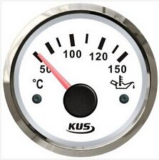 52mm KUS white Oil temp gauge with temp sensor (SV-KY14102)