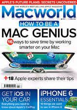 MACWORLD June 2014 How To Be Mac Genius iOS IN YOUR CAR iPhone 6 Essentials @NEW