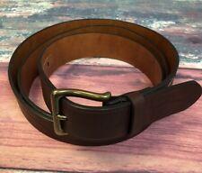 Tommy Hilfiger Brown Imitation Leather Belt Mens Size 54 / 56