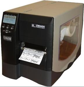 Zebra ZM400 Direct Transfer Label Barcode Printer Parallel Serial USB wit Cutter