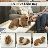 Realistic Charlie Dog Plush Toys Cute Stuffed Animal Soft Pet Children Kids Gift