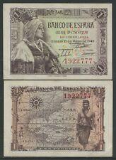 Espagne - Billets Etat Espagnol- Année: 1945 - numéro 00440 - SC- 1 pta. sans