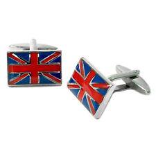 BANDERA de Reino Unido con acabado esmaltado Gemelos - EN CAJA Británica English