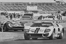 Shelby Ford GT40 Mk II & Bruce McLaren - 1967 Daytona 24 Hours - photograph