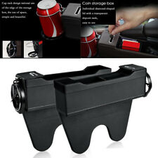 Car Seat Console Gap Filler Side Pocket Organizer Cup holder  Black PU leather