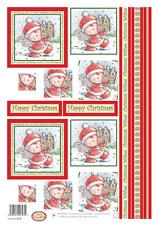 Buzzcraft Die Cut Decoupage Sheet- Christmas Fairy Doodles - 415 Square Twisters