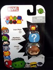Marvel Tsum Tsum 3 pack Series 2 Wasp Mystery character Iron Man #28