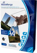200 Mediarange Fotopapier 160g hochglänzend einseitig Tintenstrahl glossy DIN A4