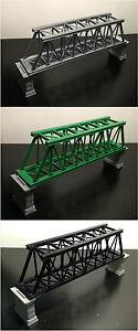 Outland Models Train Railroad Truss Bridge (for Single Track) with Piers Z Gauge