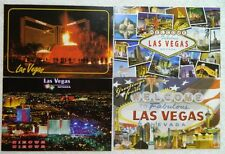 """Set of Four 4"""" x 6"""" Postcards from Las Vegas Nevada - NEW & Un-Used!"""