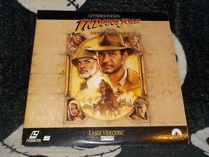 Indiana Jones And the Last Crusade Widescreen Laserdisc LD Free Ship $30