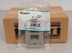 Lot of 10 Panduit PAN-NET CFPL4IGY Mini-Com Faceplate C - 4 Module Space - Gray
