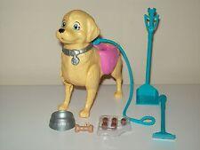 Barbie Walking Pooping Pet Dog Really WALKS & POOPS Leash Pellets Bowl Scooper