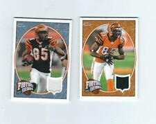 LOT OF TWO CHAD JOHNSON 2008 UPPER DECK HEROES GAME USED BENGALS #'d