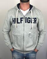 Tommy Hilfiger Mens Designer Full Zip Hoodie / Jacket / Sweater Grey Size S