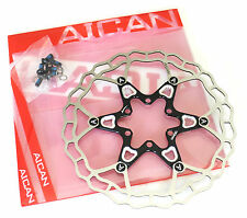 Aican Superlight Floating 2 piece Disc brake rotor 75g 160mm Black vs Hope