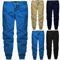 Mens Casual Skinny Pencil Pants Slim Straight Leg Trousers Sport Joggers Bottoms