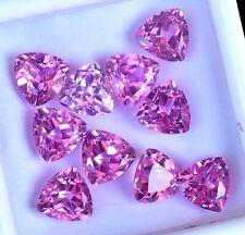 10 piezas de Mogok Natural Rosa Rubí billones de 8.00 mm impresionante certificado AAA + Piedras Preciosas