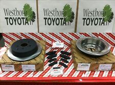 Toyota Sienna 2011-2018 OEM Rear Brake Rotors & Genuine Toyota Pads & Shim Kit