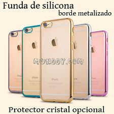 FUNDA SILICONA Para Samsung Galaxy Grand I9082 ULTRASLIM BORDE EFECTO METALIZADO
