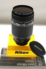 Nikon AF-Nikkor 70-210mm f/4-5.6 Ai-s auto focus zoom. MINT. +filter+manual.